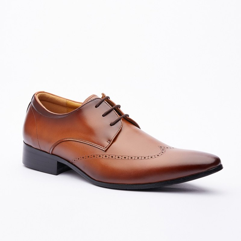 Kings Collection Genuine Leather Nowell Shoes KG80004 Brown