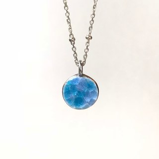 Ocean bubble  Sterling silver Enamel necklace