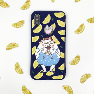 Bursting lemon eggheads - iPhone case