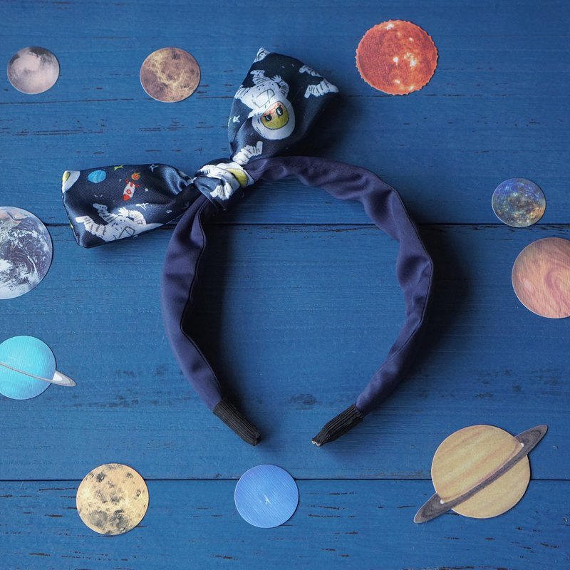 Original handcrafted astronauts small butterfly headband