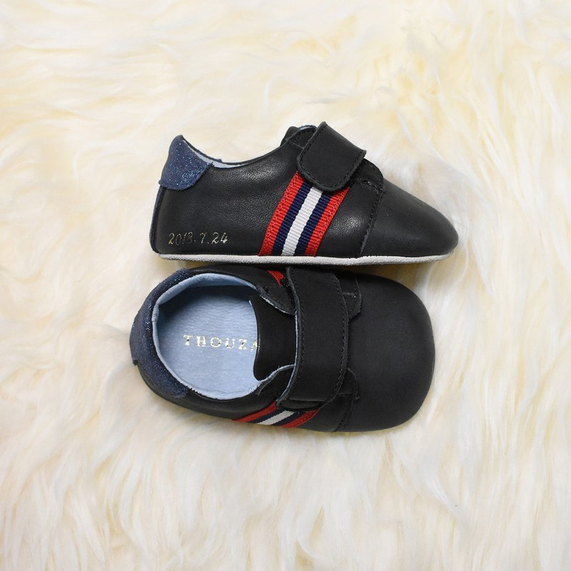 Black handsome casual baby shoes / handmade toddler shoes / custom branding / custom / gifts