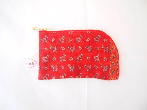 Kyoto flowers arc zipper multi-purpose pouch
