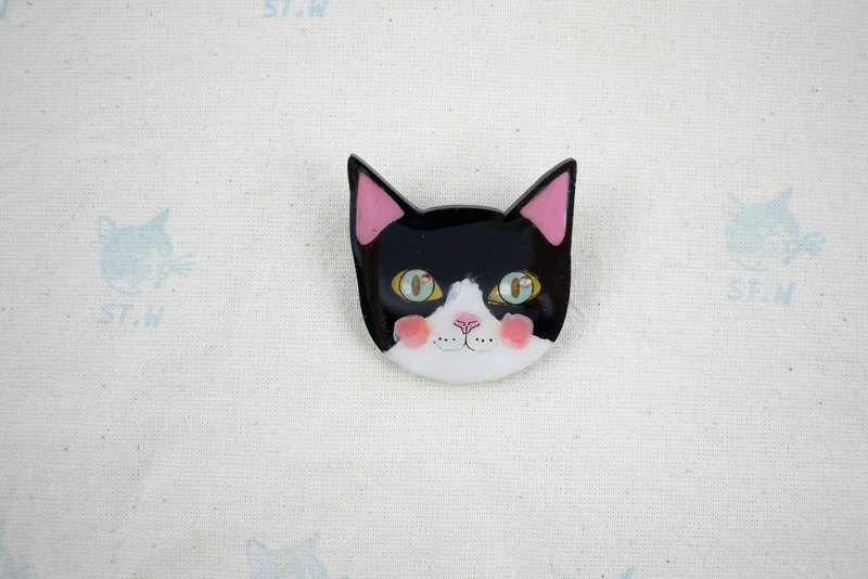 Smile cat - pin-up cat pin