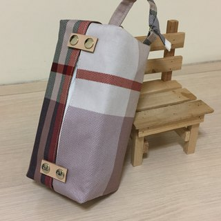 Hanging _ bag removable paper cover _ classic plaid leather decoration