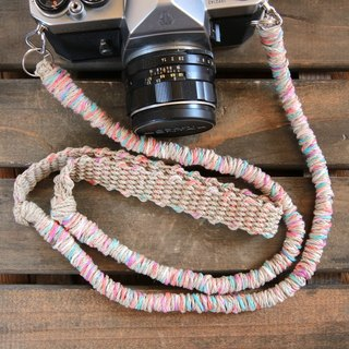 MIX hemp hemp camera strap colorful / double ring
