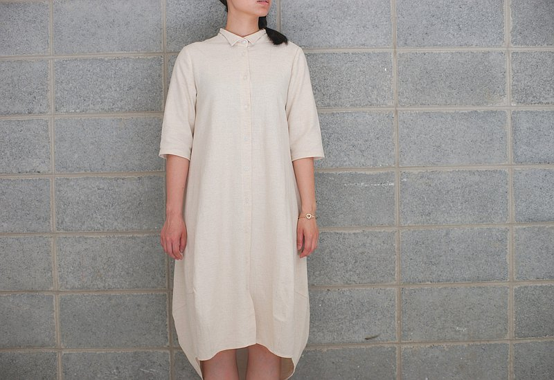 Beishan Baiyun_egg-shaped shirt dress