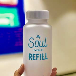 GIFT TRITAN WATER BOTTLE/BPA FREE/SAFE MATERIAL/FROSTY WHITE MY SOUL Blue