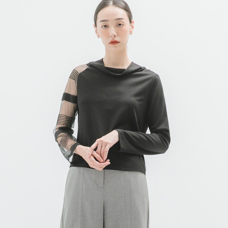 Shade_Shadow Patchwork Top_9AF002_Autumn/Winter_Black