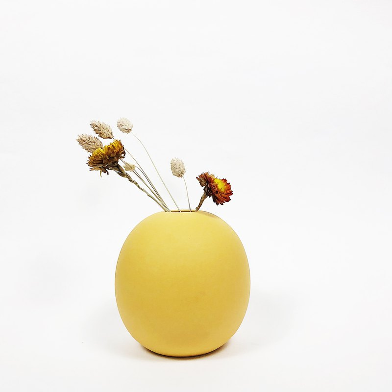 Sphere Vase -Mimosa Yellow (L)