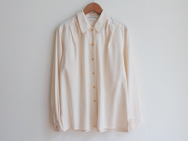 Vintage / Shirt / Cashmere Wool Long Sleeve no.114 a
