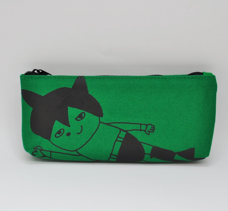[Swimmy Design Lab] Japan Classic Cartoon Series - Atomic Diamond Pattern Pencil Case/Pencil Box (Dark Green)