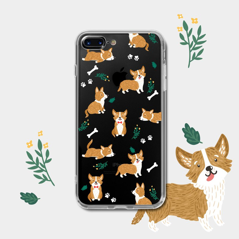 Corgi puppy | transparent soft shell | mobile phone case