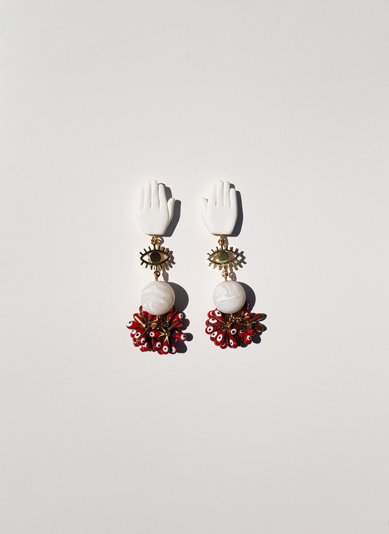 Miriam, Hand and Eye Earrings