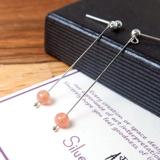 Orange Moonstone Auricular Auricular (Small) - 925 Sterling Silver Natural Stone Earrings