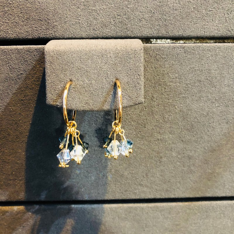 Meteor 925 Silver Gold Plated Earrings, Valentines Day, Gift
