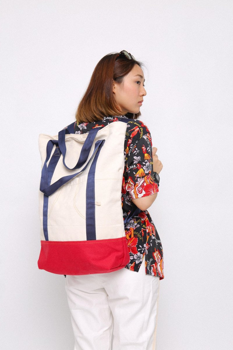 RED WHITE TWOTONE : WIDESIDE COLLECTION