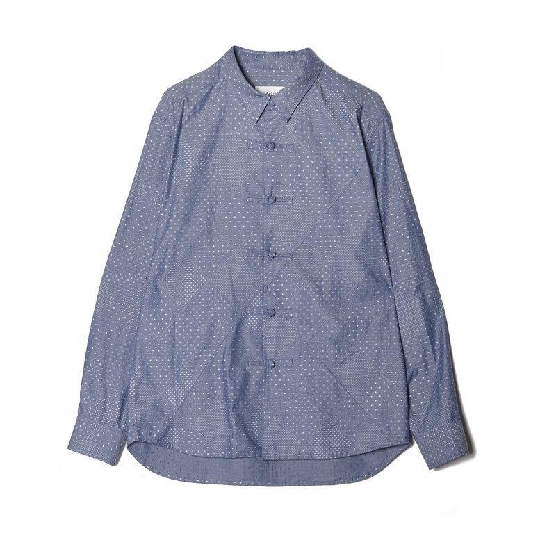 oqLiq - Display in the lost - Tannin Silk Check Shirt