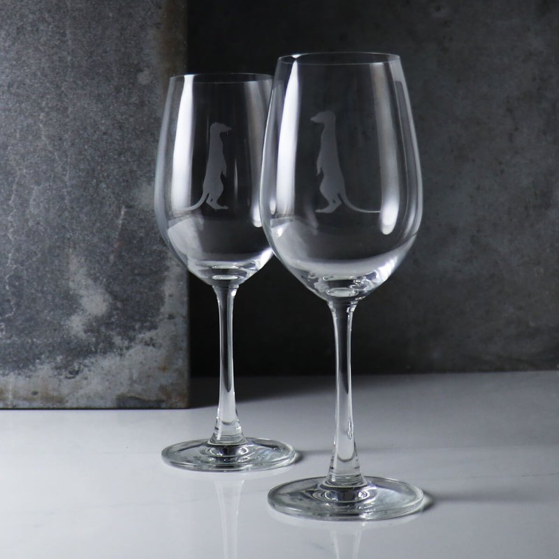 (a pair of prices) 350cc [love fox 獴] fox silhouette red wine on the cup of nature animal wine glass