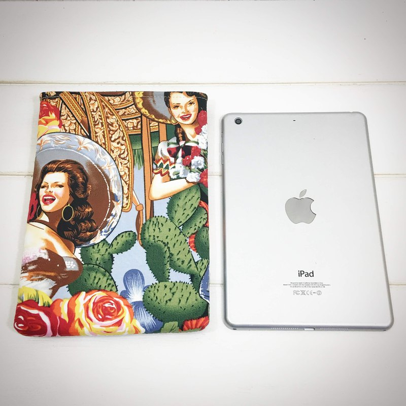 |R• | The fastest iPad | Mexican country girl | U-shaped flat bag / flat protective cover | 7.9吋