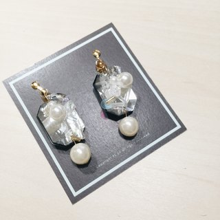 Hand-made earrings beaded sequins