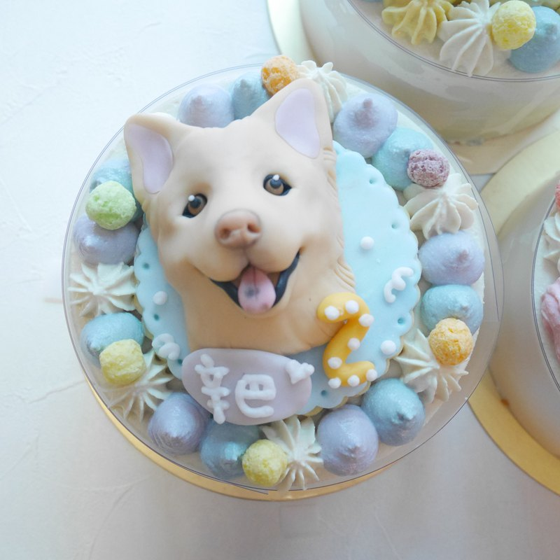 ::Self-receiving order area:: 5吋customized dog cake