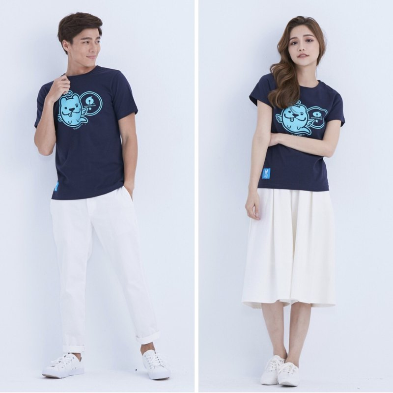 LAZYMARU-LM001530 small guardian 6th anniversary T-shirt law couple lovers Taiwan Wenchuang