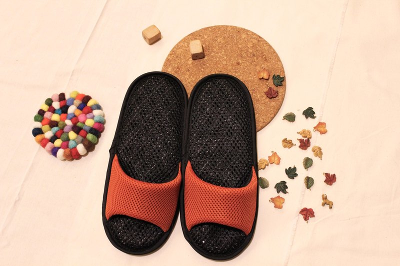AC RABBIT low-pressure indoor air cushion slippers - open-toe section - orange comfortable decompression original / sp-1207T-Mog