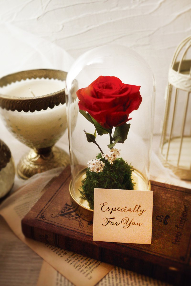 Little Prince - Eternal Red Rose Gold Glass Cover (Happy Valentine's Day Gifts)