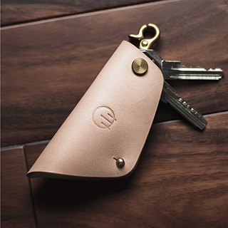 HUANGS 艸一田人European imported leather vegetable tanned handmade key bag | Father's Day gift