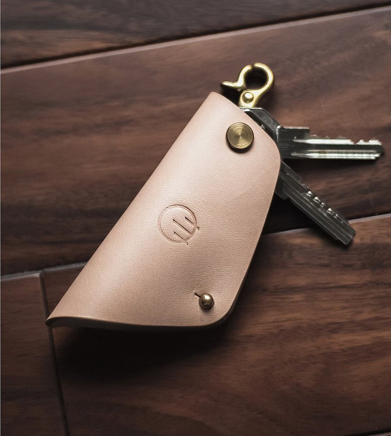 HUANGS 艸一田人Father's Day Gift-European Imported Leather Vegetable Tanned Handmade Key Case