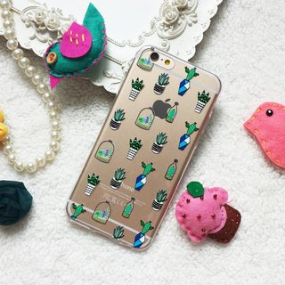 Cactus Clear TPU silicone Phone Case phone X 8 8+ 7 7+ S8 plus S7 edge Sony XZ