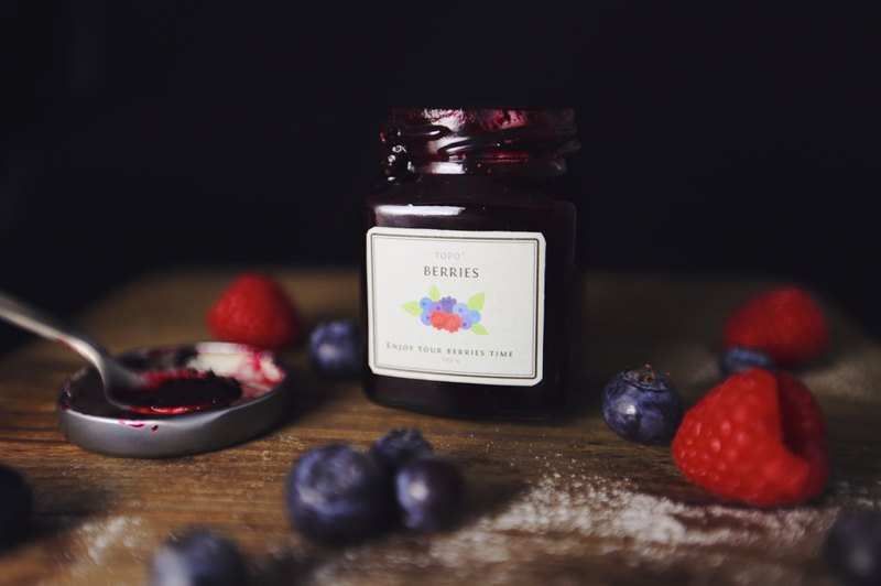 [Topo popular hot] hand made rustic berry jam