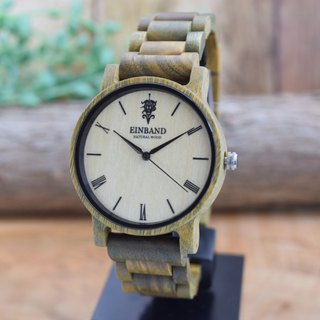 EINBAND Reise Green sandalwood 40mm Wooden Watch