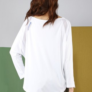 Flying Mouse Sleeve Netting Reflective Top - White