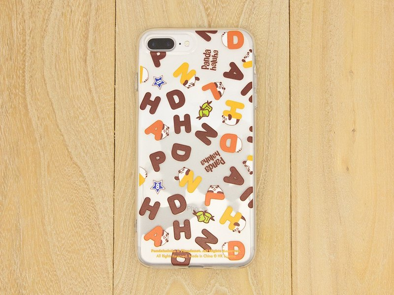 Pandahaluha iPhone 7+/8+ Transparent Soft Case (Alphabet)