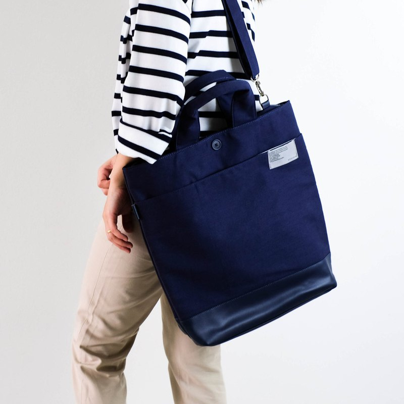 SAN-JON TOTE BAG #Dark blue