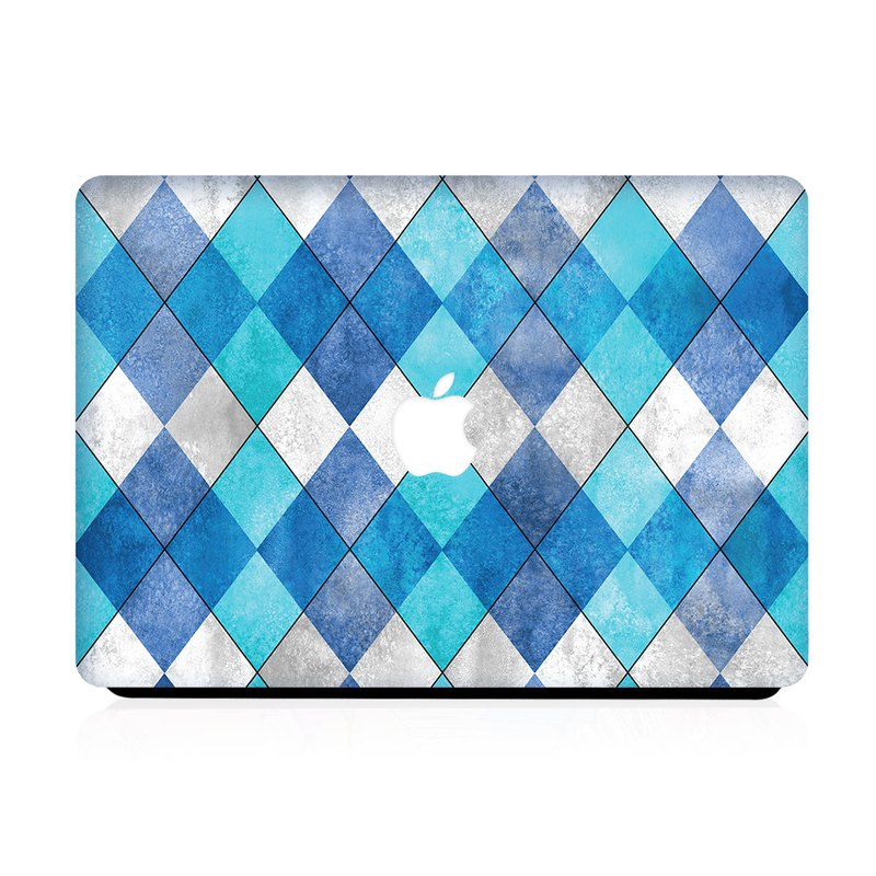 Slick Case Macbook Case - Aqua Diamond Tile