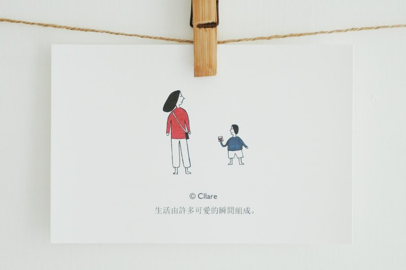 Cute Moment Postcard/Card