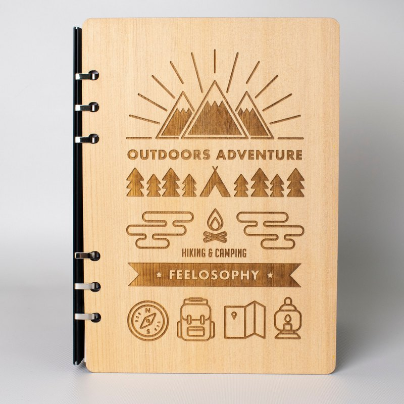 2019 Pocket Log Notebook Camping Camping Wooden Notebook