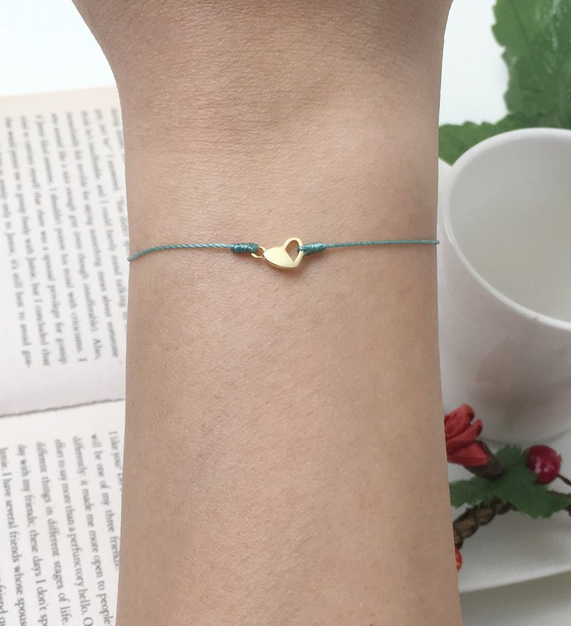 Happiness line sterling silver gold-plated love half open love love happy red line bracelet super fine red line hand rope
