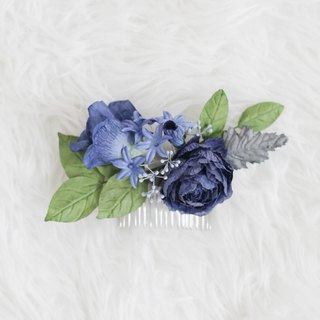 Deep Blue - Paper Flower Hair Comb