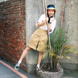 Tsubasa.Y ancient house ancient British GURKHA pants, military shorts retro high waist