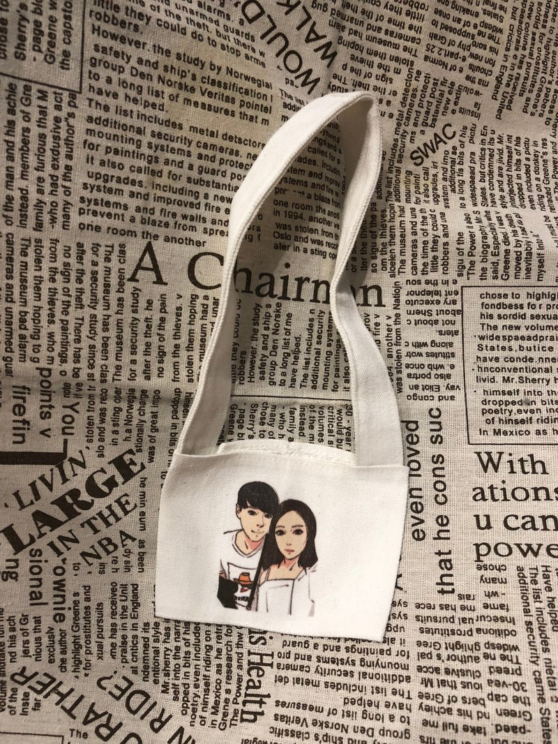 Hand-painted Q version [beverage bag] Jintian Yihui's products and drawing styles can be customized