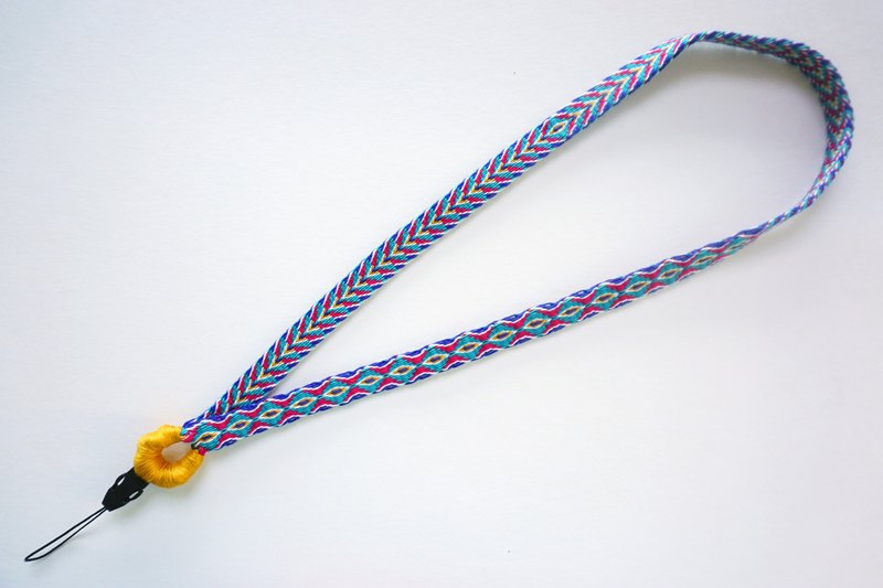 Mobile phone sling manual woven ribbon