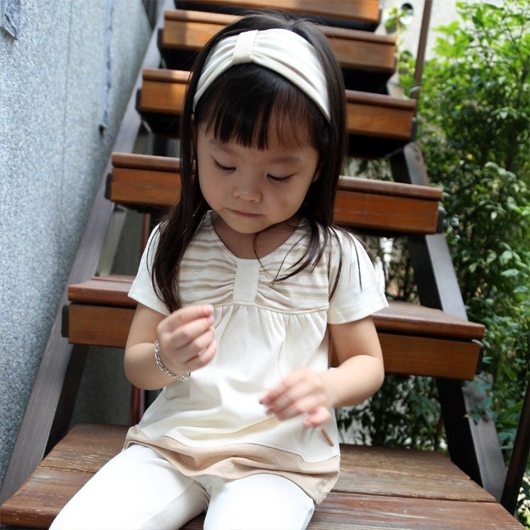 [Organic] ecoolla (color) cotton wrinkle bow shape cotton short-sleeved shirt _ m | in Taiwan