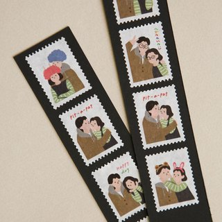 Stamp-shaped paper tape (single roll) -15 photo sticker, E2D13066