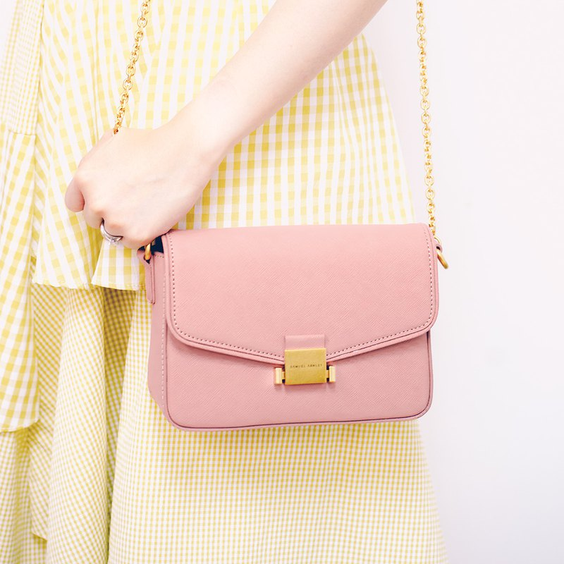 Clara Mini Flap Over Crossbody Bag - Ash Rose