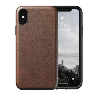 American NOMAD iPhone Xs Max Classic Leather Drop Protection Case - (855848007694)