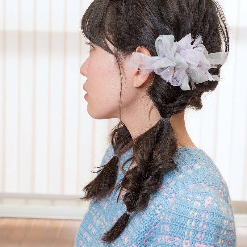 mini || 堇 || 花漾編織髮夾