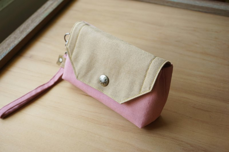 Wristlet Pouch - Cellphone Purse - Pink - For her